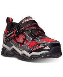 skechers red light up shoes skechers boys hawk super z light up sneakers from finish