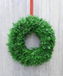 fresh boxwood wreaths