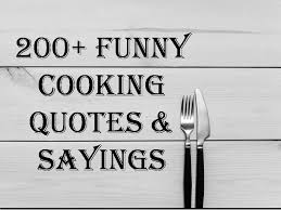 cooking quotes sayings