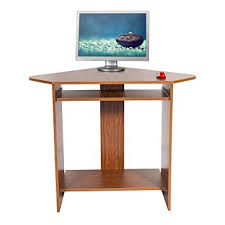 Computer Corner Desk by Mari Home Clifton Walnut Home Office Computer Corner Desk