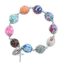 battle saints bracelets 72 best rosary bracelets images on rosaries rosary