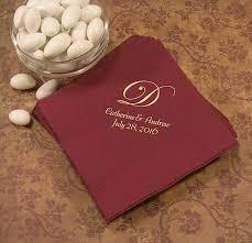 printed wedding napkins monogram napkins wedding napkins personalized personalized
