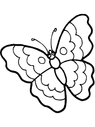 butterfly kids coloring page free download