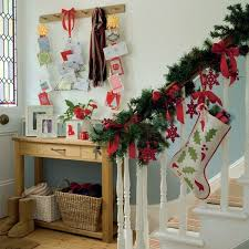 christmas home decoration ideas decorate the stairs for christmas 30 beautiful ideas