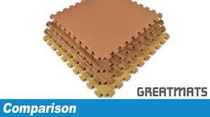 Norsk Interlocking Floor Mats by Greatmats Wood Grain Foam Floor Tiles Comparison Reversible Vs