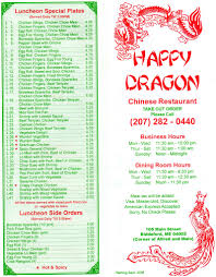 Chinese Buffet Hours by Happy Dragon Chinese Restaurant Menu Urbanspoon Zomato