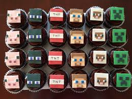 minecraft cupcakes minecraft cupcakes with steve creeper enderman tnt sheep and pig