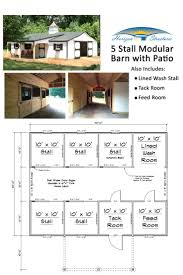 Floor Plan For 30x40 Site by 30x40 5 Stall Modular Barn With Lots Of Extras Priced At About