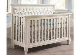 White Convertible Crib Belmont Convertible Crib With White Tufted Panel By Natart Furniture