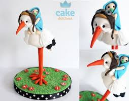 stork cake topper stork cakes for baby shower cake magazine