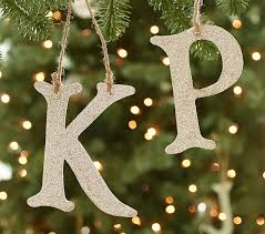 glitter alphabet letter ornaments pottery barn