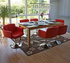 Esszimmerstuhl Palermo 6x Esszimmerstuhl Drehstuhl Stuhl Orlando Kunstleder Chrom Rot Ebay