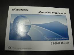 honda cb 600 hornet manual do proprietário acessórios de motos