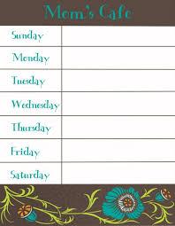 printable blank meal planner 30 family meal planning templates weekly monthly budget tip junkie
