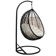 outdoor hanging swing chair with roof black rattan www rattan