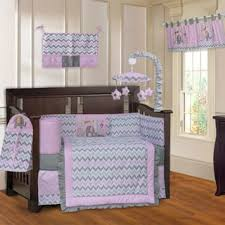 Zig Zag Crib Bedding Set Babyfad Elephant Zigzag Elephant Pink 10 Crib Bedding Set