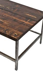 wood plank coffee table long and narrow c 1940 s repurposed american industrial brushed
