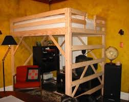 loft beds free plans build full size loft bed 52 loft bed