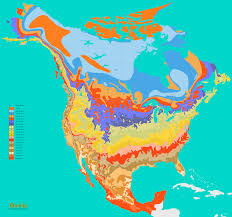 Cmu Map Usda Hardiness Zone Map Of Us Michigan Growing Zone Map For Plant