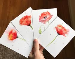 water color cards watercolor card etsy