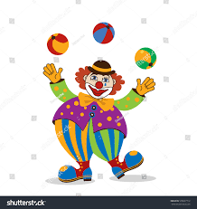 clowns juggling balls circus clown vector illustration stock vector