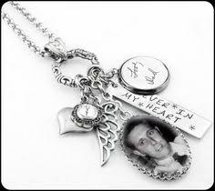 personalized remembrance jewelry hendersweet handwriting necklace memory necklace from a loved
