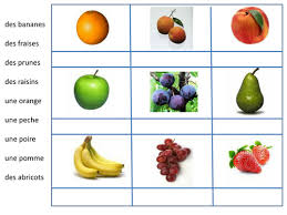french fruits matching pics and vocab by mlapworth teaching
