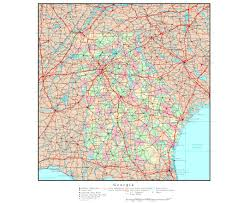Driving Map Of Florida by Maps Of Georgia State Collection Of Detailed Maps Of Georgia