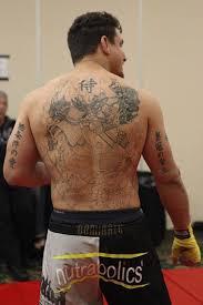 wwe frank mir back tattoo
