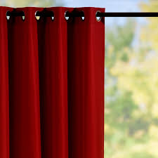 Outdoor Curtains With Grommets Grommet Top Semi Opaque Outdoor Curtain Panels Red Brick