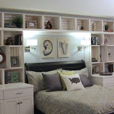 overhead bed storage color of the month february 2017 hazelnut storage headboard