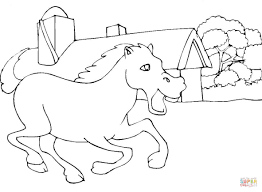 horses in the stable coloring page free printable coloring pages