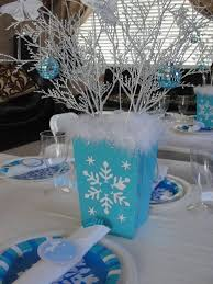snowflake table top decorations 82 best party snowflake theme images on pinterest birthday party