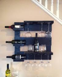 black wine rack wine storage wine glass holder bar shelf