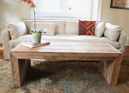furniture rustic wooden coffee table at living room design ideas
