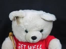 get well soon teddy get well soon teddy t shirt crutches sitdown plush
