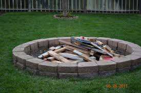 Landscaping Ideas For Big Backyards by Home Design Backyard In Ground Fire Pit Ideas Wallpaper Baby The