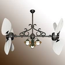 twin star iii double ceiling fan oiled bronze with 13 blade options
