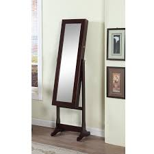 Jewelry Mirror Armoire Amazon Com Artiva Usa Espresso Wood Finish U2013 Free Standing