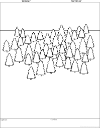 draw a forest winter and summer printable worksheet