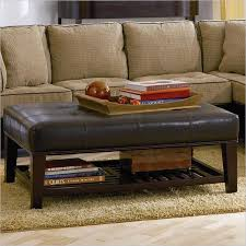 Leather Coffee Table Storage Leather Ottoman Coffee Table With Leather Storage Table With Light