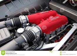 ferrari engine ferrari engine and exhaust editorial photography image of motor