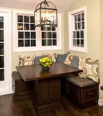small corner kitchen table with storage kitchen dining corner