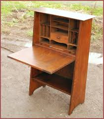 original gustav drop front desk stickley harvey ellis wooden brown varnished professional lacquired awesome amazing shapes diffe