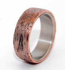 copper engagement ring minter richter unique wedding rings beaten copper minter