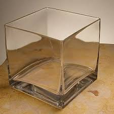 Glass Vases Square 6x6 Clear Square Glass Vase
