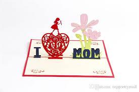 3d pop up greeting cards peony birthday valentine i love mom