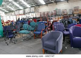 Recycling Office Furniture by Used Office Furniture In Warehouse For Recycling Stock Photo