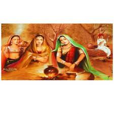 buy ray decor u0027s rural women painting on canvas matte finish