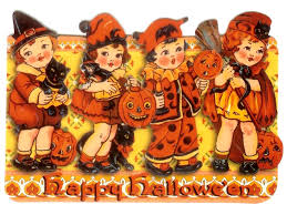 halloween greeting cards vintage halloween wallpapers group 54